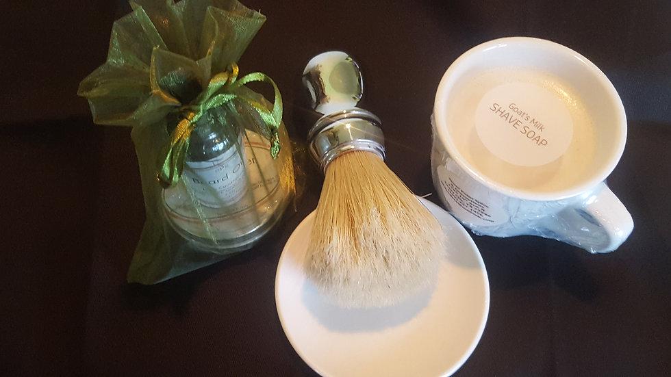 Wet Shave Set ( Goat Milk)