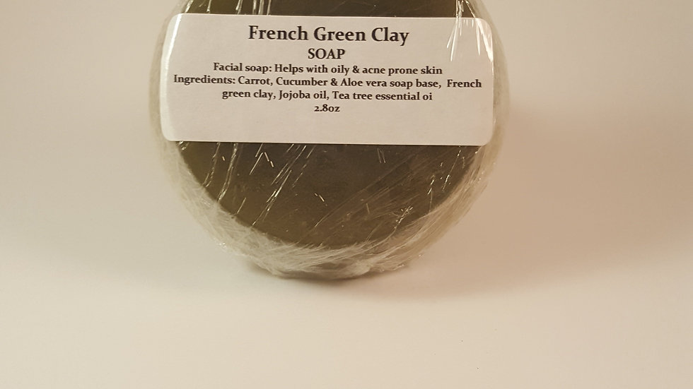 Face Soap - French Green Clay