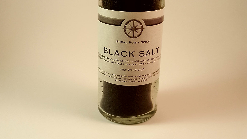 Black Salt w/grinder top