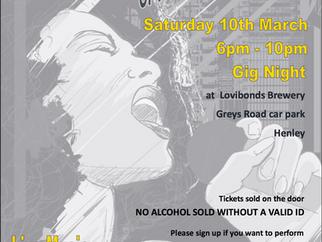 Gig Night - Saturday 10th March