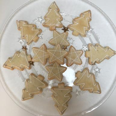 Christmas kransekake cookies