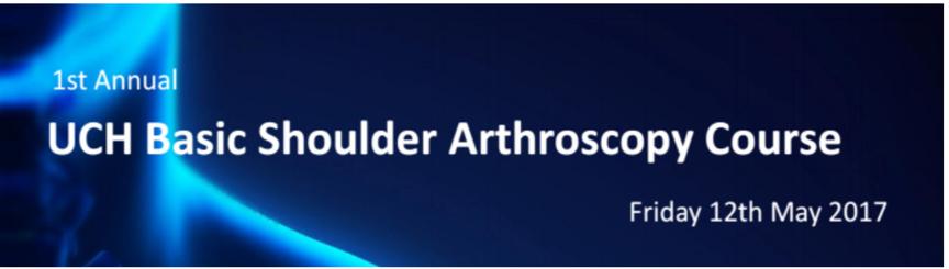 Amar teaching on a shoulder arthroscopy course to trainee surgeons
