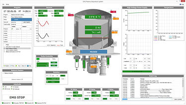 Plasma coating automation system screenshot