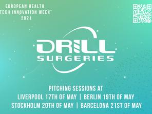 Drill Surgeries Ltd. Expositor en la  EUROPEAN HEALTH TECH INNOVATION WEEK
