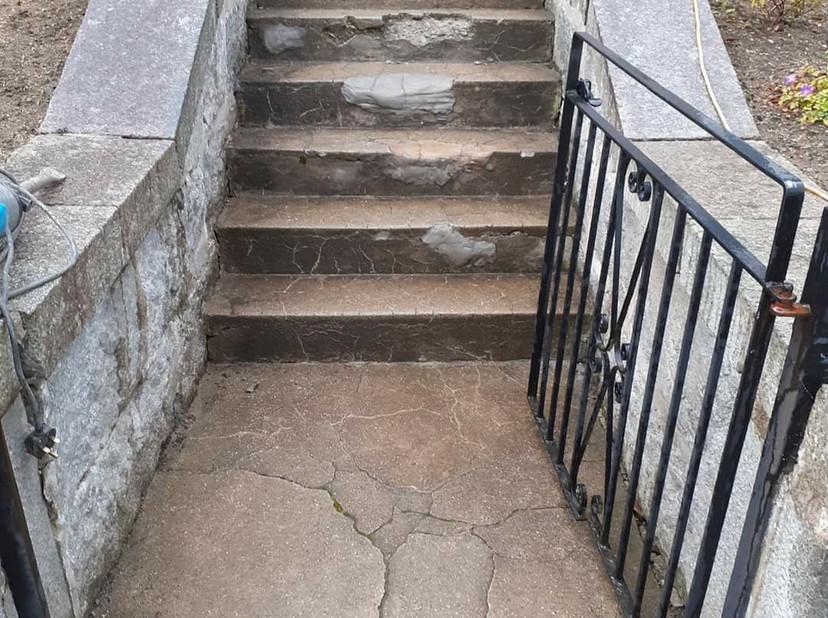 Before image of stairway