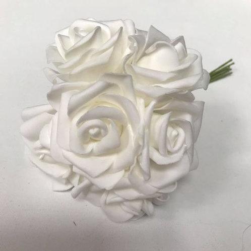 Foam Roses Bunch of 6