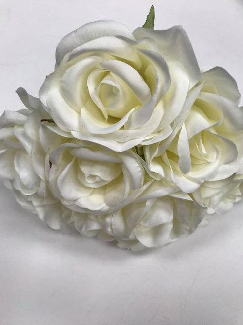 Ivory silk Rose Bunch