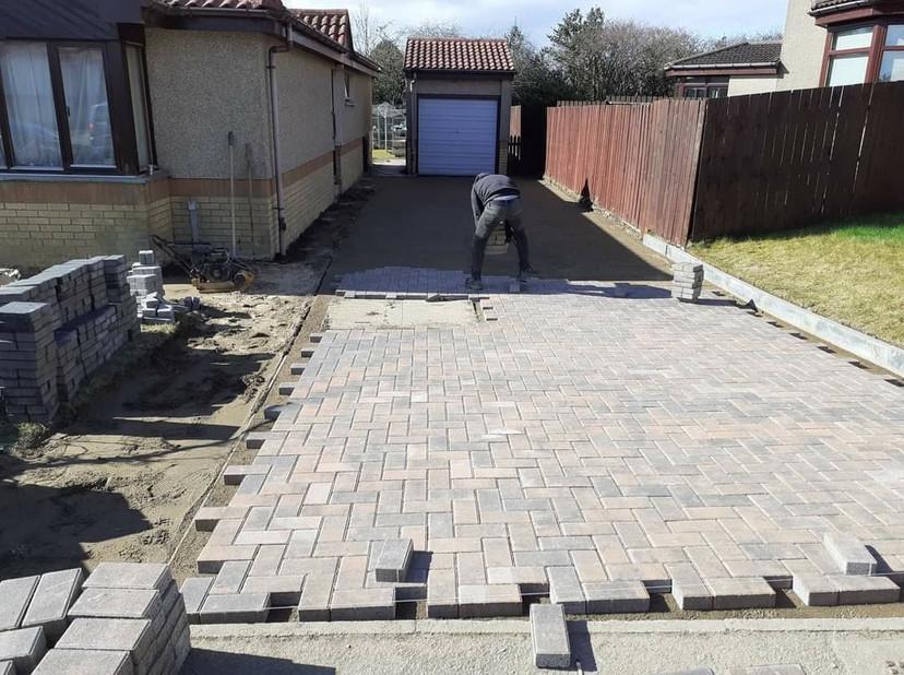 Progress of Paving Driveway