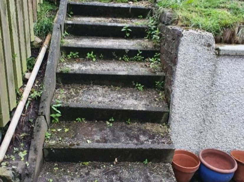 Old stair way before it was replaced