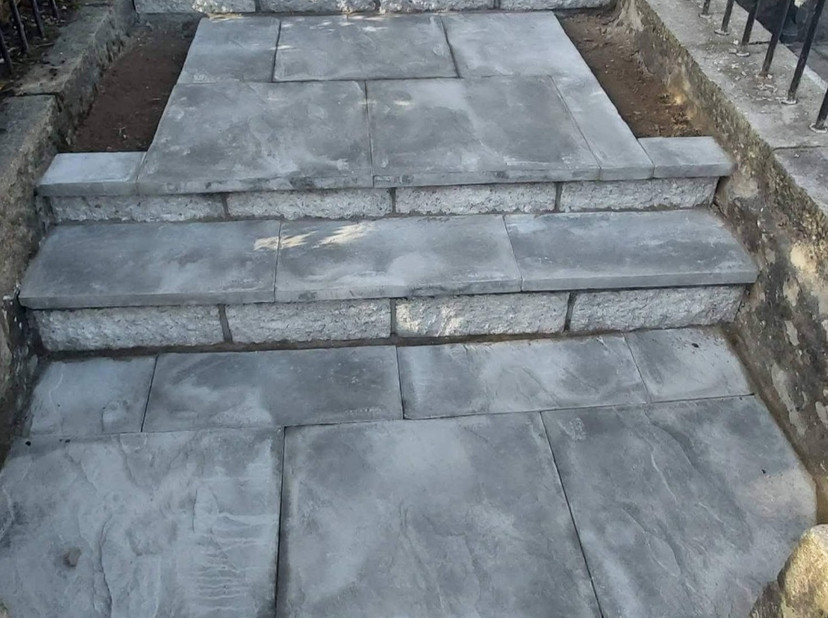 Example of stair paving