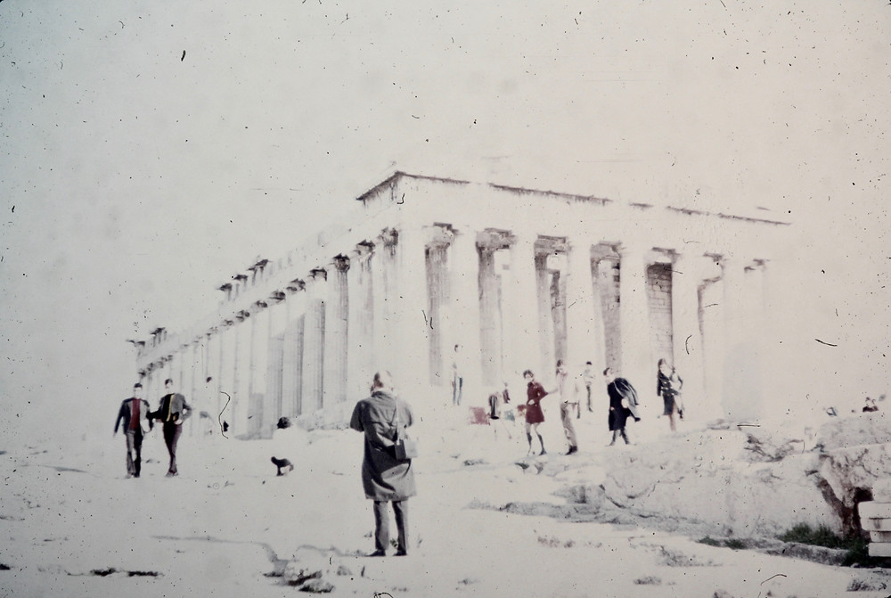 The Parthenon, Athens, Greece circa 1971