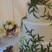 Fern wedding cake