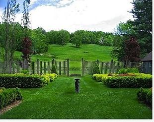 Formal garden entry.
