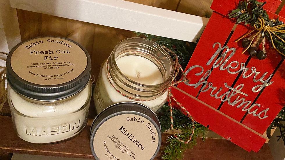 Holiday 7oz Mason Jar Candle