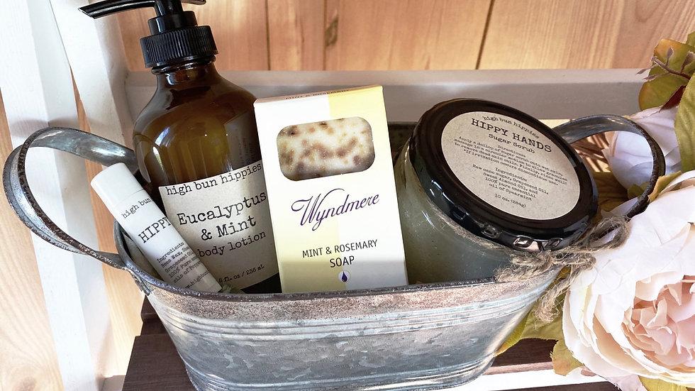 Eucalyptus & Mint Gift Basket