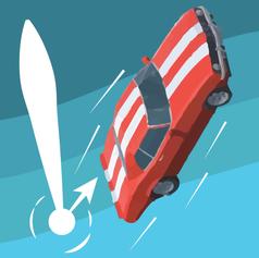 Car VS Trampoline : Crazy Drop