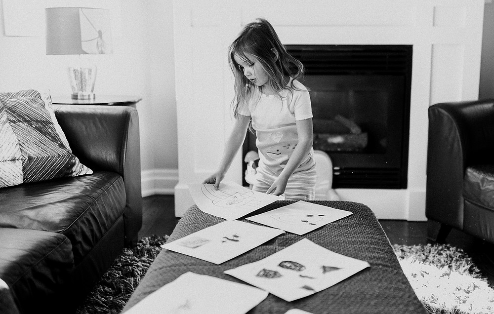 Showing me her drawings Lifestyle Photography Whitby