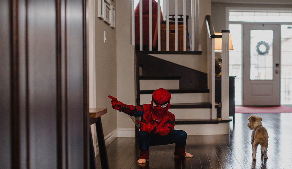 Spiderman is in the house Lifestyle photography Whitby
