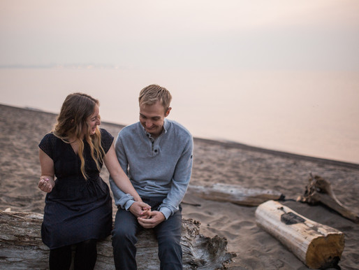 Kelsey and Ethan | Sunrise Engagement Session | Rouge Beach, Toronto, ON