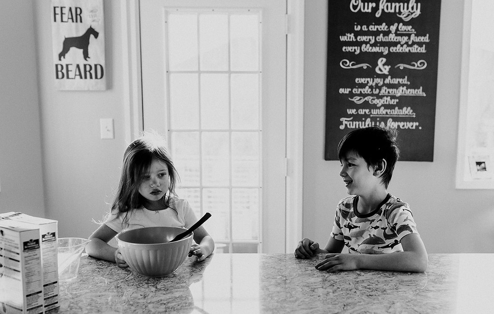 Siblings together Family lifestyle photography Whitby