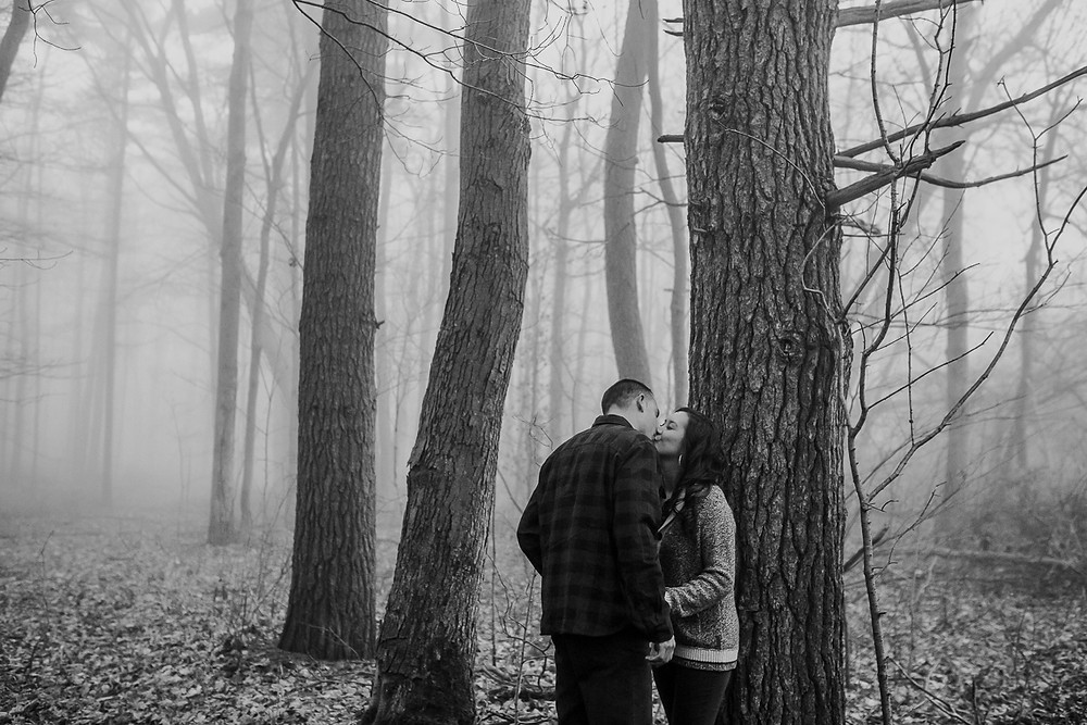 Kissing in the forest