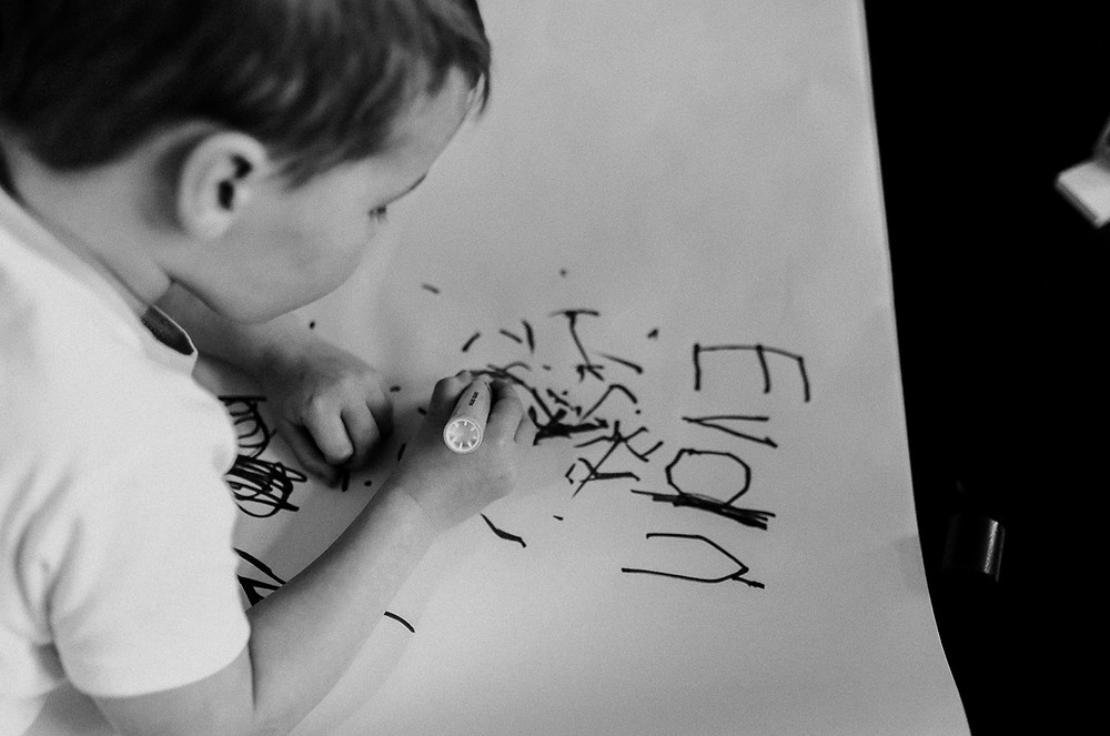 Writing his name lifestyle photography family Whitby