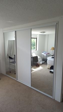 Framed mirrored wardrobe