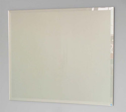 Frameless bevelled mirror