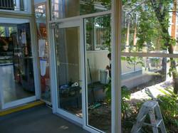 Framed commercial entry door