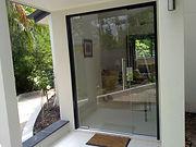 Frameless pivot commecial door, shop front