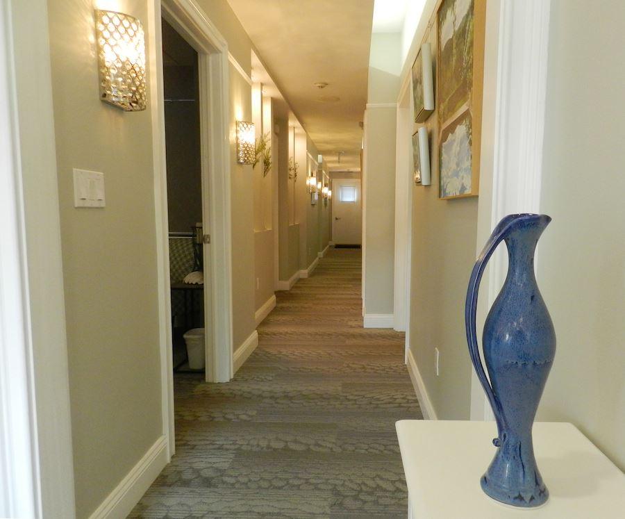 Avance Day spa hallway