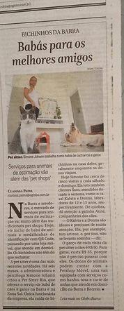 Pet Sitter Rio Jornal O Globo reportagem