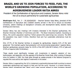 Press Release: Novo Código Florestal