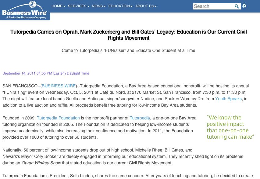 Press Release - Tutorpedia