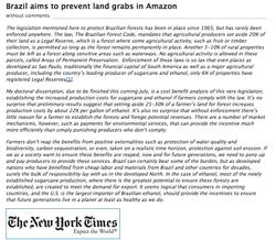 Artigo no New York Times, EUA