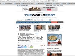 Artigo no Huffington Post, EUA