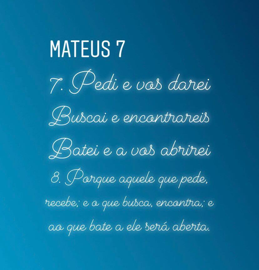 Matheus 7: 7-8 Sermão da Montanha