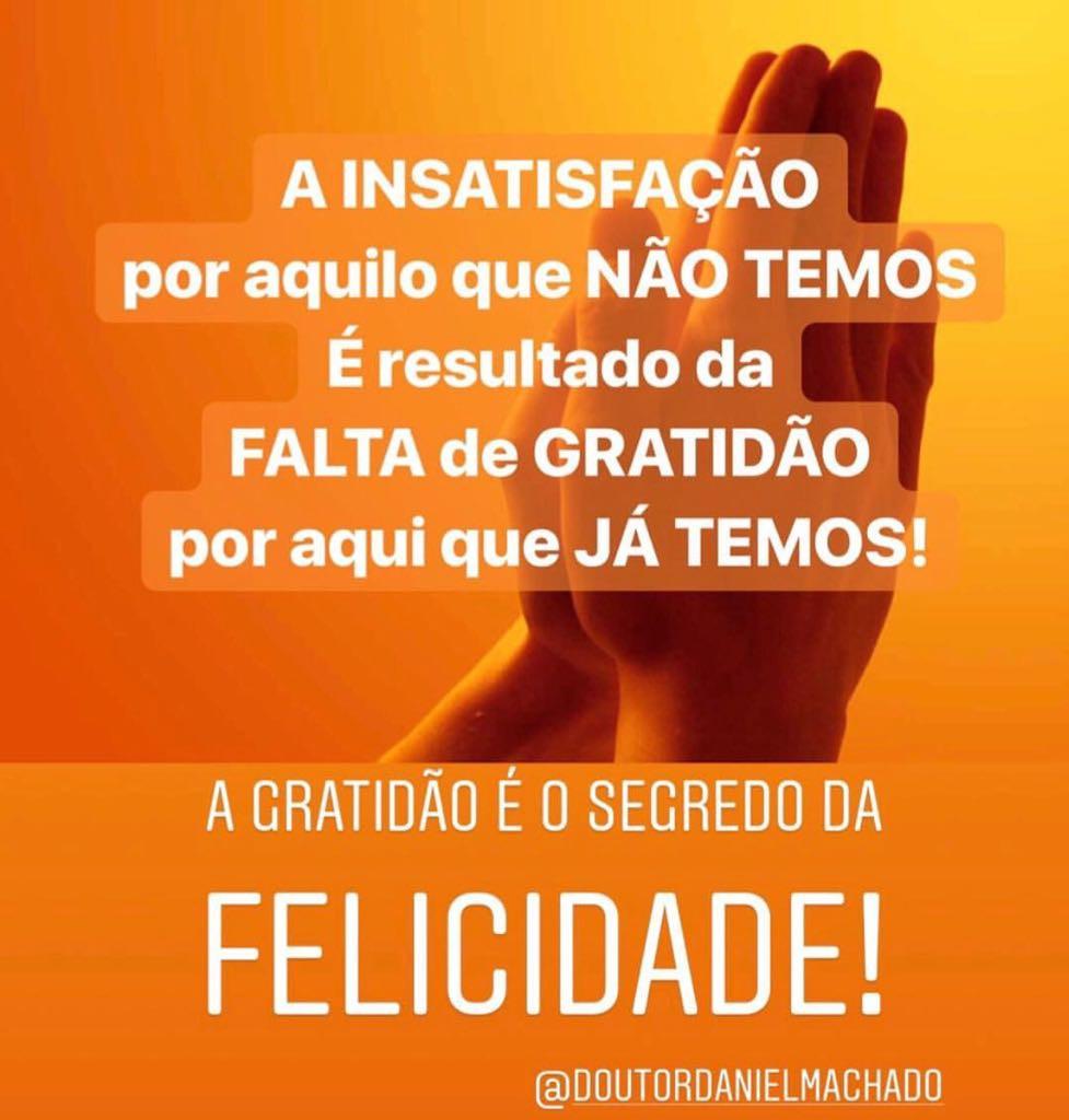 A Gratidão é o segredo da Felicidade!!