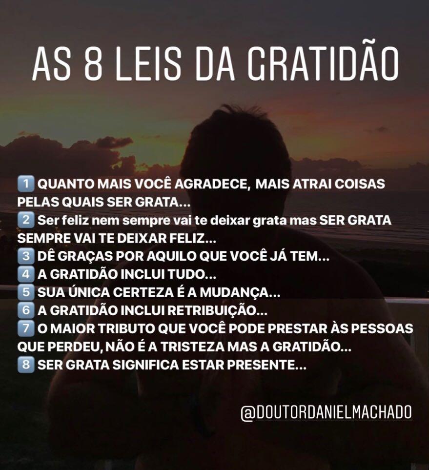 As 8 LEIS DA GRATIDÃO