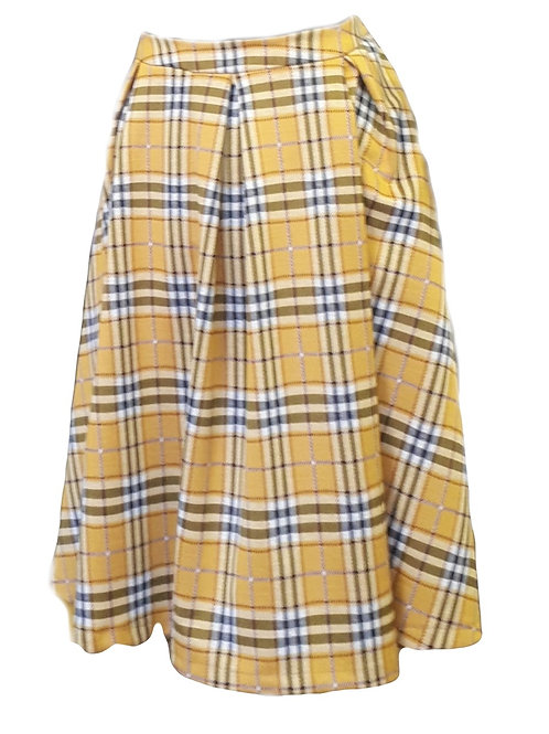 Plaid knitted skirt