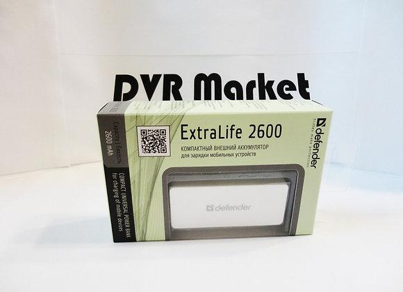 Внешний аккумулятор Defender ExtraLife 2600