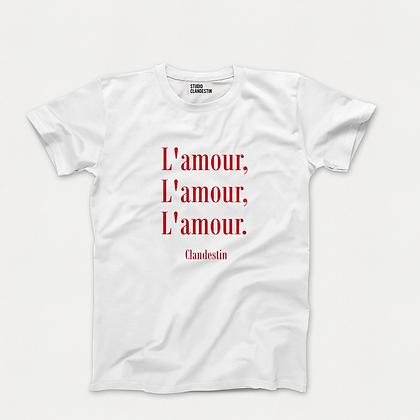 "Tee-Shirt ""A""mour Clandestin édition Rouge"