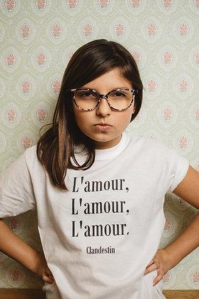 """Tee-shirt Blanc l'Amour """"PITCHOUN"""""""