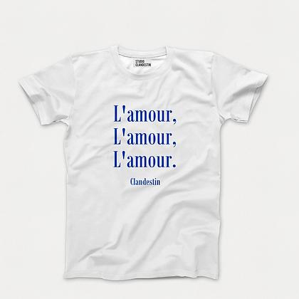 """Tee-Shirt """"A""""mour du Bleu"""