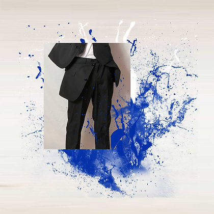 "Pantalon ""SWAN"" Noir UNISEX"