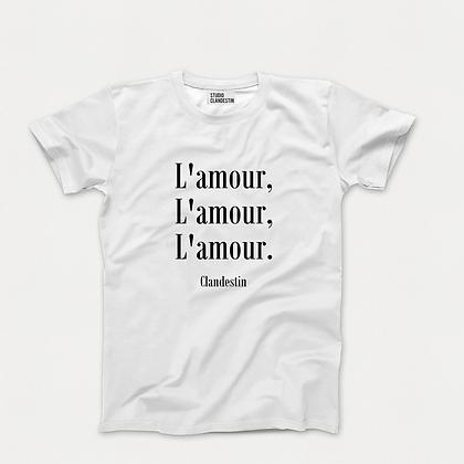 "Tee-Shirt ""A""mour Clandestin"