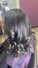 Silk Press on Long Natural Hair