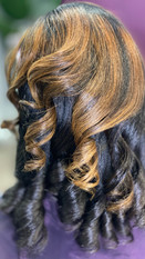 Exquisite Silk Press & Curl