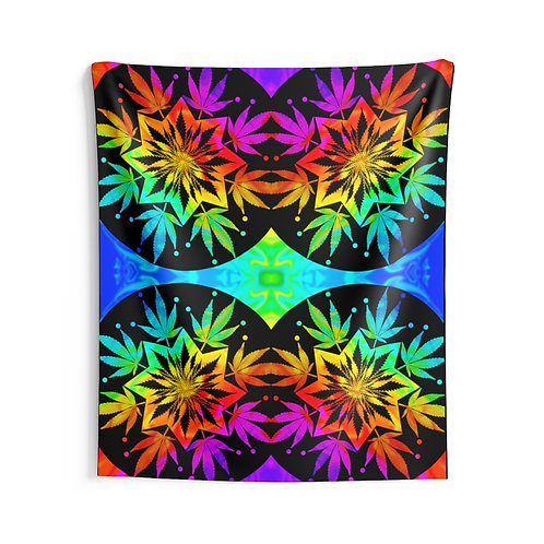 Rainbow Leaf Tapestry