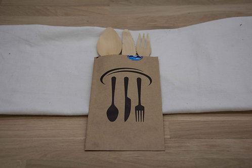 Ξύλινο μαχαιροπήρουνο σετ 3
